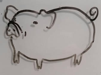 Please Enjoy This Pig I Made by LadyWo1f