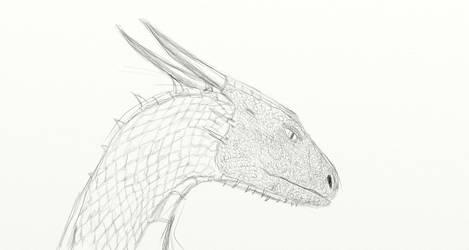 Saphira Portrait (WIP) by Dragon-Soul117