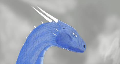 Saphira Portrait by Dragon-Soul117