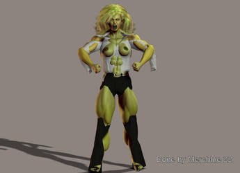 Tiffani B becoming She-Hulk 1c by mercblue22