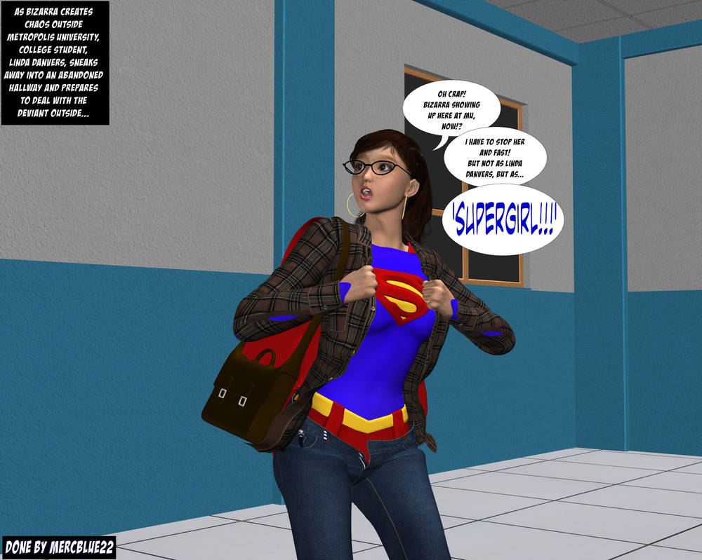 Linda Danvers becomes Supergirl in Hallway TF 1b by mercblue22