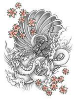 Samurai Vs Dragon by Neekou