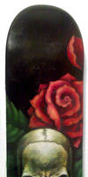Skull And Roses -Oil On Deck- by Neekou