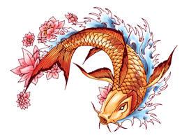 koi fish by Neekou