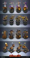 Siegecraft TD towers by mavhn