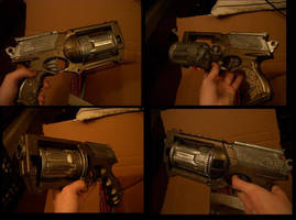 Steampunk Pistol by BlameTheEconomy