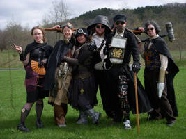 Steampunk Costume Group by BlameTheEconomy