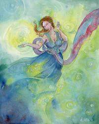 Kierra the Cleric of Shelyn by shadowgirl