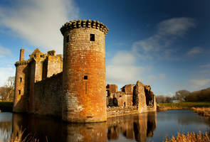 Caerlaverock Castle, Scotland by Johnmckenna