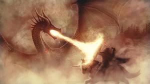 Dragon #10 : a Knight against a Dragon by SeigneurNazgul