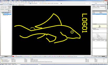 Plecostomus Logo - Altium Designer Silk Screen by dePow9999