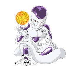 Frieza with powerball by dbzataricommunity
