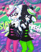 Squid Sisters Kenny And Gome by the-chinad011-house