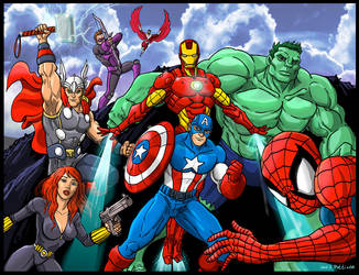 Avengers by GinoDrone