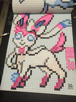 Sylveon Pixel Art (Perler Bead Pattern) by KeitimariArt
