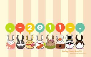 Year of the Chubby Bunny by nemu-nemu