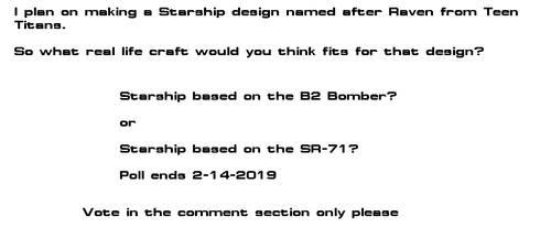 Raven Class Starship design poll by kaisernathan1701