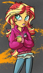 A shimmering sunset by LordFunkyFist