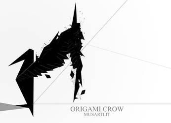 Origami Crow by MusArtLit