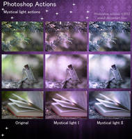 Photoshop Mystical light Actions by aoao2
