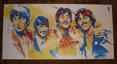 Beatles paint by always-foreverlilly