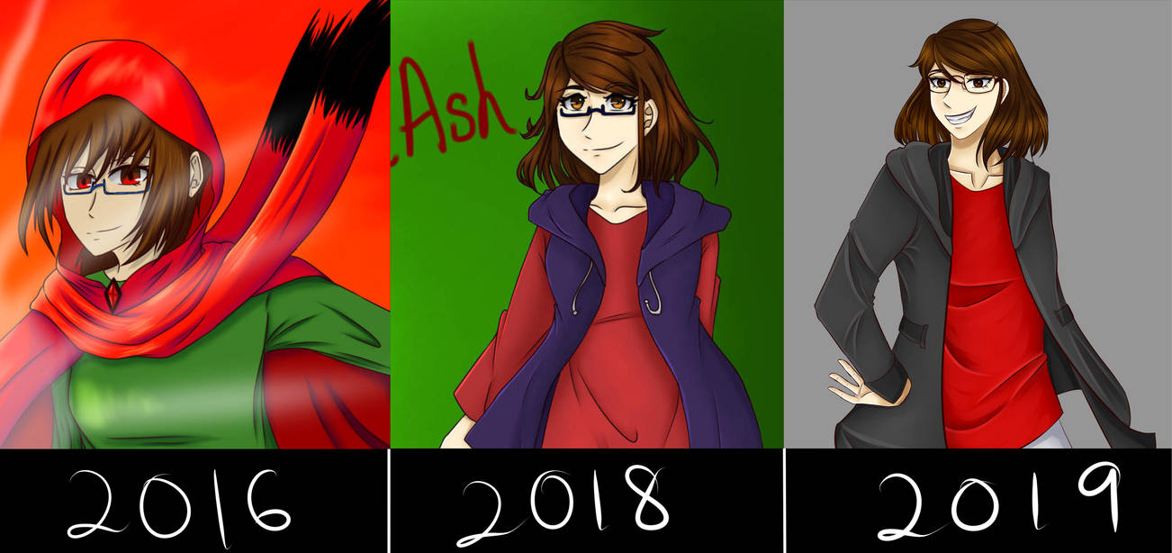 4-years Comparison by RedPhoenixAsh