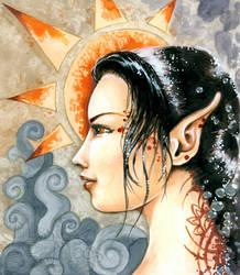 Aztec Sun by Meggyb