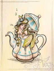 Mermaid in a Tea Pot Vintage by Meggyb