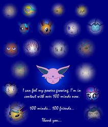 100 Minds... 100 Friends... by Uri-the-Espeon