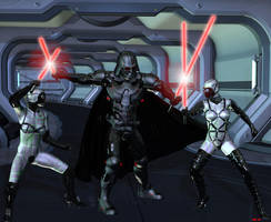 Darth and the Sithzilla Sisters by Hera-of-Stockholm
