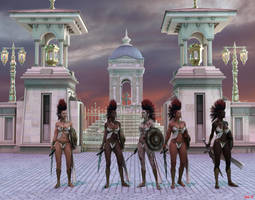 The Amazon guards of Olympos by Hera-of-Stockholm
