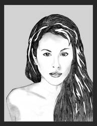 Alisha in pencil by solitary