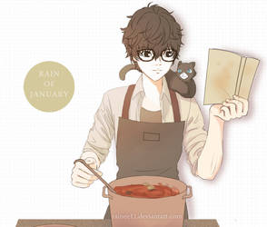 Persona 5 - Making curry by rainee11