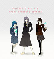 Persona 3 4 5 - Beauty contest by rainee11