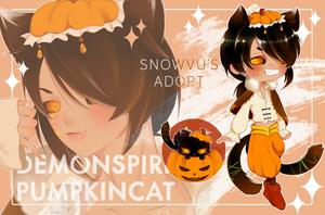 ADOPT AUCTION #1: DEMON SPIRIT - PUMKIN CAT (OPEN) by SnowVu