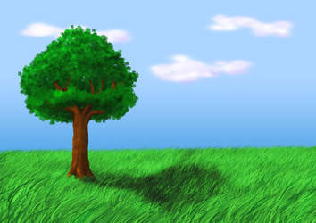 Tree Landscape by SneakyTanya