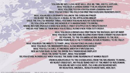 America, Why I Love Her by colonoscarpeay
