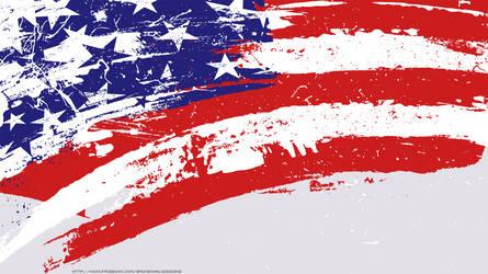 American Flag Wallpaper by colonoscarpeay