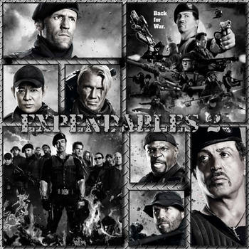 Expendables 2 Fan Art by colonoscarpeay