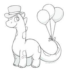 Sketch Request: Cute Dino Splotch by Grand-Corsair
