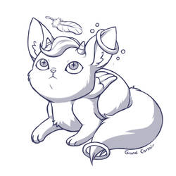 Sketch Request: Screw Kitty by Grand-Corsair
