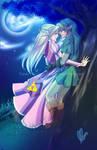 Commission-Zelink- Under The Moonlight by Nardhwen