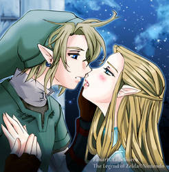 LinkxZelda:Good night Kiss by Nardhwen
