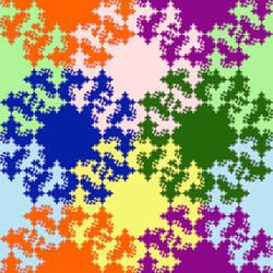 Diagonal peak fractal tile by markdow
