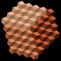 Octahedral oak cube group by markdow