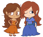 Comm: Kira and Jane by Regal-Squirrel