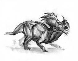 Styracosaurus 2016 by MinohKim