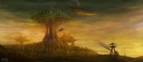 steampunk city by 0800