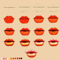 Lips process by ryky