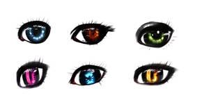 Eye types by ryky